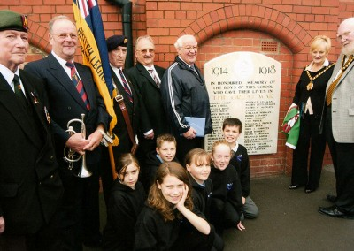 Restoration of War Memorial Plaque – Gladstone School, Barry