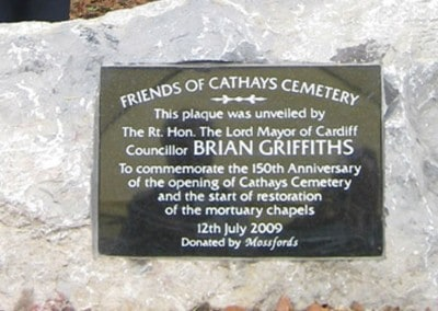 150th Anniversary – The Opening of Cathays Cemetery