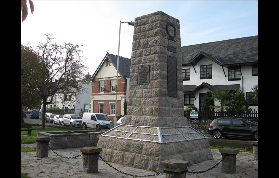 Dinas Powys War Memorial Restoration After