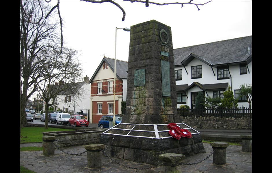 Dinas Powys War Memorial Restoration Before
