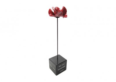 Commemorative WW1 poppy display