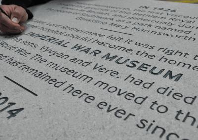 Imperial war museum, Commemorative plaque