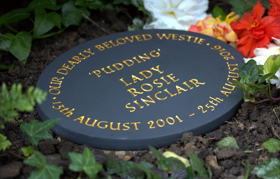 Winston granite pet memorial
