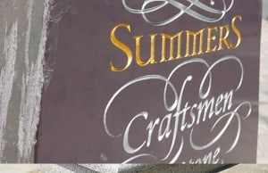 Summers Memorials engraved plaque with gold leaf
