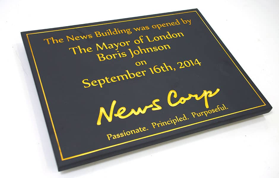 Commemorative plaque for News Corp