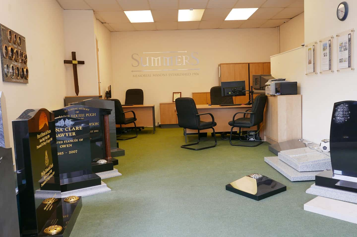 Inside Summers Memorials branch