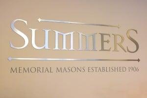 Summers Memorial Masons wall sign