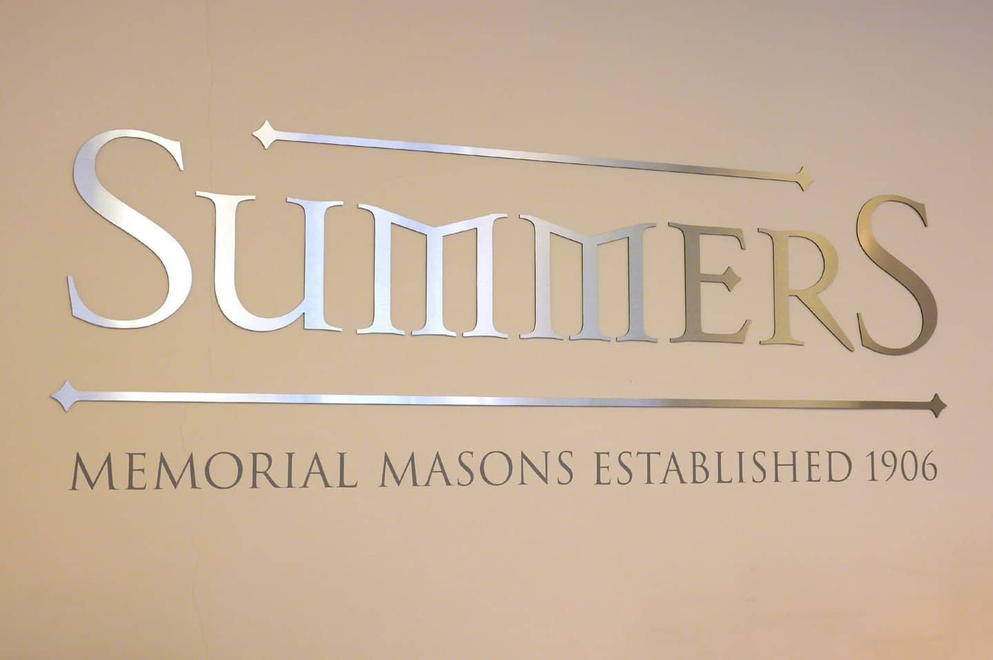 Summers Memorial Masons wall sign