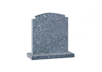 Blue Pearl Granite headstone with shaped top.