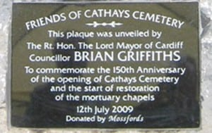 Cathays Cemetery Commemorative Plaque