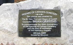 Cathays Cemetery Commemorative Plaque