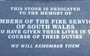 Fire Service Memorial Plaque