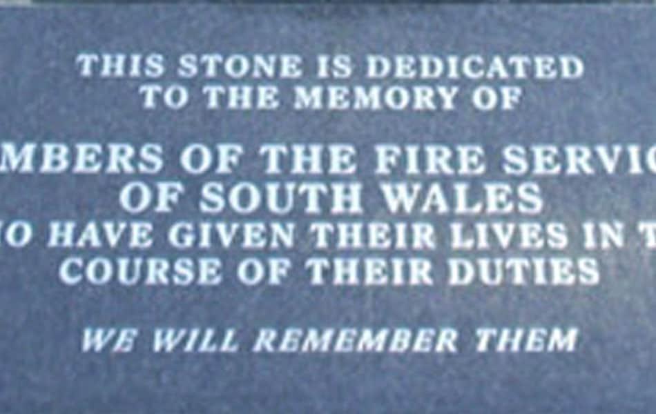 Fire Service Memorial Plaque