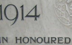 Gladstone School Memorial Plaque Restoration
