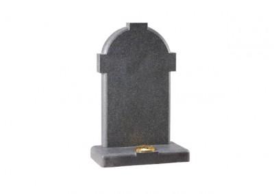 Dark Grey Granite headstone with a honed finish