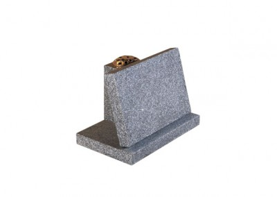 Light Grey granite memorial with flower vase rest.