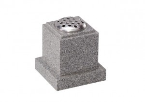 Light Grey granite flower vase memorial