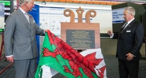 Prince of Wales with unveiling plaques