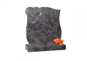 Headstone with engraved heart design