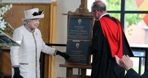 Queen Elizabeth II with Unveiling Plaque