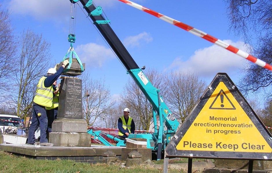 Memorial renovation in progress