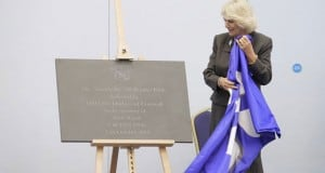 Duchess of Cornwell with Unveiling Plaque