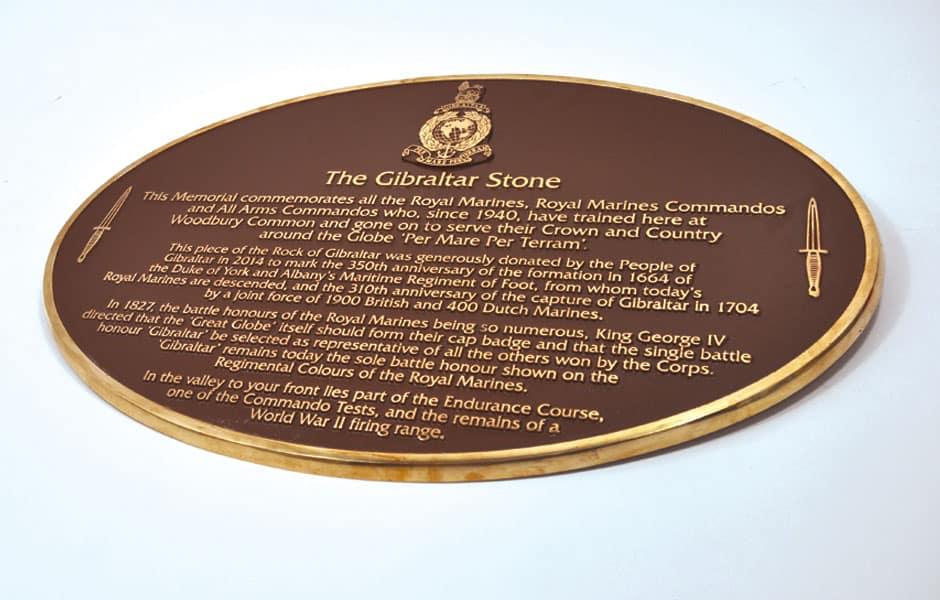 Oval commemorative plaque