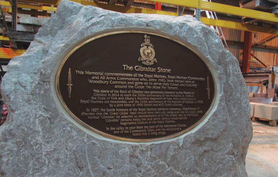 The Gibraltar Stone Plaque