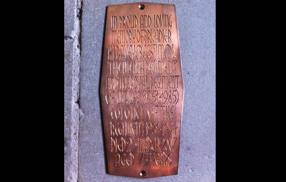 Llandaff Cathedral Royal Welsh Bronze Plaques