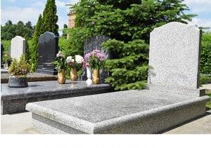 Grey kerb set memorial