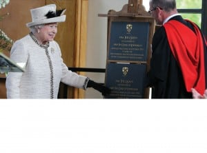 Queen Elizabeth II with Commemorative Plaque