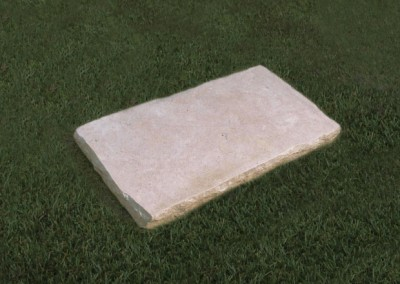 Natural Limestone plaque with a naturally pitched edge.