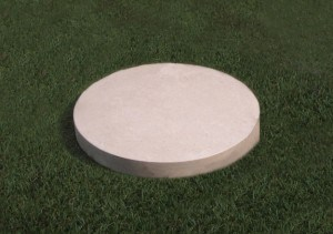 Natural Limestone plaque with a smooth edge.
