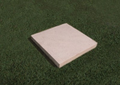 Square natural Limestone plaque with a smooth edge.