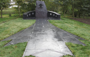 The Royal Welsh memorial at the National Memorial Arboretum in Staffordshire
