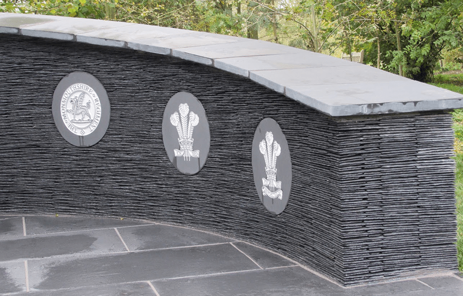 The Royal Welsh memorial at the National Memorial Arboretum in Staffordshire